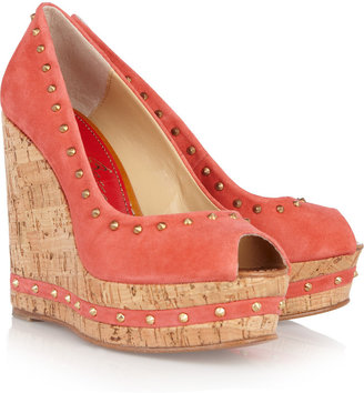 Paloma Barceló Menorca studded suede and cork wedges