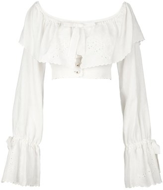 Chanel off the shoulder blouse
