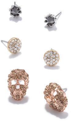 Rachel Roy Skull Earring Set
