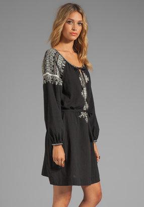 BCBGMAXAZRIA Long Sleeve Combo Dress