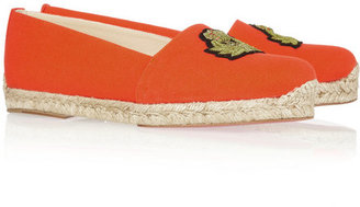 Christian Louboutin Galia canvas espadrilles