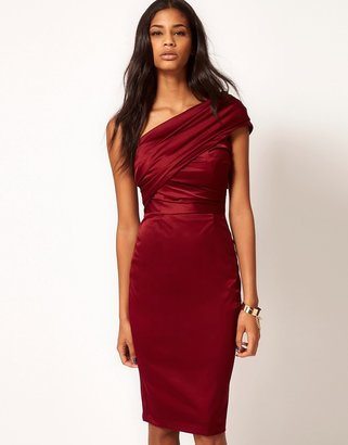 ASOS Cocktail Dress in Wiggle Shape $86 thestylecure.com