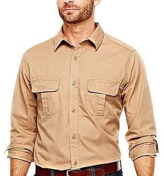 JCPenney St. John's Bay® Twill/Chambray Shirt