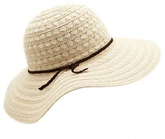 Charlotte Russe Braided Band Crochet Floppy Hat