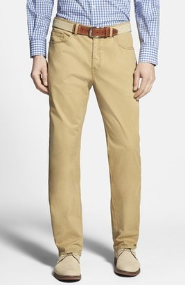 Men's Peter Millar Stretch Sateen Five Pocket Pants $145 thestylecure.com