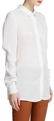 MANGO Outlet Striped Textured Shirt