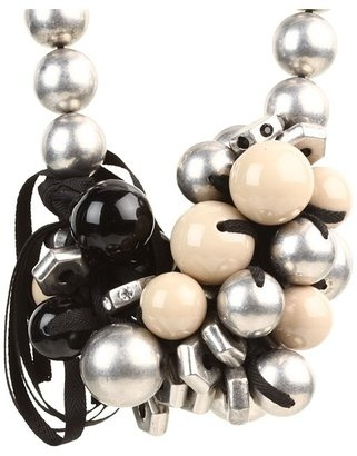 Marc by Marc Jacobs Bolts Galore Bubble Necklace (Black Multi) - Jewelry