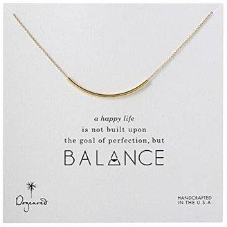 Dogeared Balance Tube Necklace (Gold) Necklace