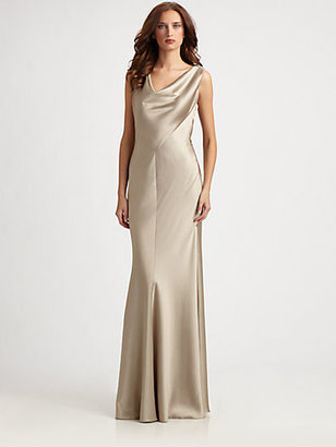 Kay Unger Beaded-Back Gown