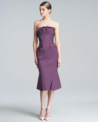 Zac Posen Strapless Duchess Satin Dress