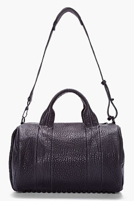 Alexander Wang Black Leather Rocco Studded Duffle Bag