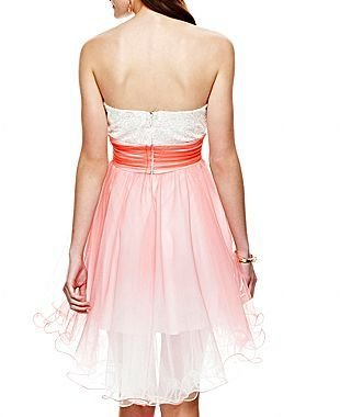 JCPenney Strapless High-Low Dress