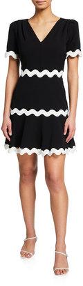 Milly Josephine Cady Ricrac-Trim Dress