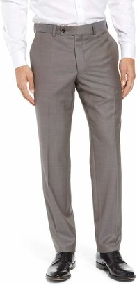 Ted Baker Jefferson Flat Front Wool Trousers
