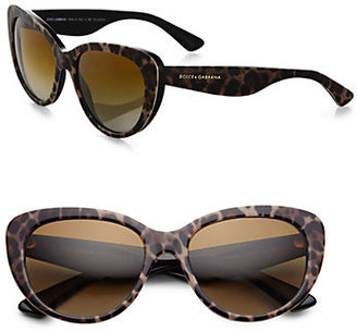 Dolce & Gabbana Printed Plastic Cat's-Eye Sunglasses