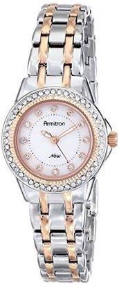 Armitron Women's 75/5194MPTR Swarovski Crystal Accented Two-Tone Bracelet Watch $74.95 thestylecure.com