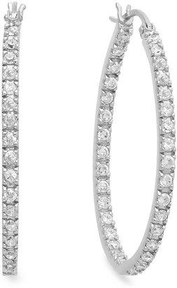 B. Brilliant Sterling Silver Earrings, Cubic Zirconia In-and-Out Hoop Earrings (1-1/3 ct. t.w.)