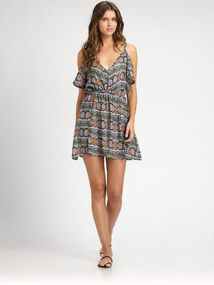 L-Space City Tribe Cold-Shoulder Dress