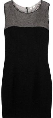 L'Agence Mesh-panel mini dress