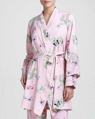 BedHead Butterfly-Print Knit Robe