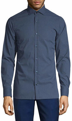 Ermenegildo Zegna Geo-Print Button-Down Shirt