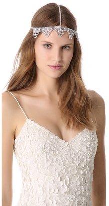 LELET NY Lattice Lace Crystal Headband