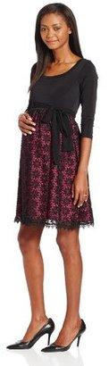 Olian Women's Maternity Lace Skirt Dress