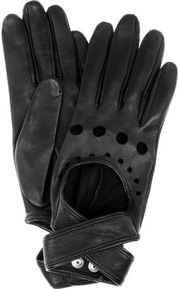 Agent Provocateur Cutout leather gloves