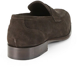 Saks Fifth Avenue Collection Suede Apron Loafers