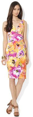 Lauren Ralph Lauren Floral Printed Matte Jersey Dress