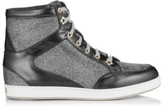 Jimmy Choo Tokyo Glitter and Mirror Leather Sneakers