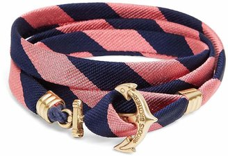Brooks Brothers Kiel James Patrick BB#4 Stripe Wrap Bracelet