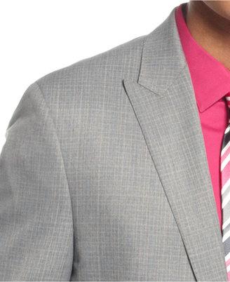 Sean John Suit, Light Grey Mini Check