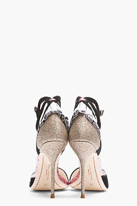 Webster SOPHIA Black Suede Glitter Penelope Pumps