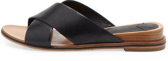 Derek Lam 10 Crosby Pete Crisscross Leather Slide