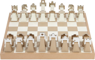 Renzo Romagnoli Leather and Chrome Chess Set $1,250 thestylecure.com