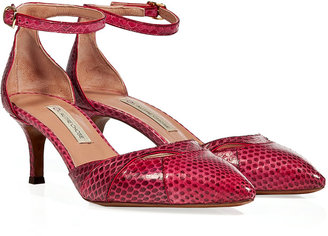 L'Autre Chose LAutre Chose Raspberry Embossed Leather Mary-Janes