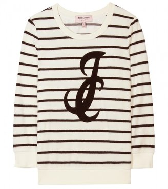 Juicy Couture STRIPED VELOUR PULLOVER