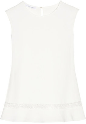 Lace-trimmed cady top