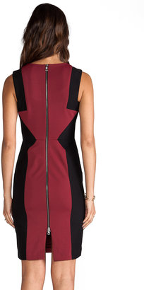 BCBGMAXAZRIA Evelyn Sleeveless Colorblock Dress