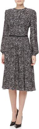 Michael Kors Appaloosa Silk Georgette Printed Dress
