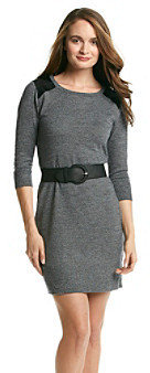Amy Byer A Byer A. Byer Juniors' Faux Leather Sweater Dress