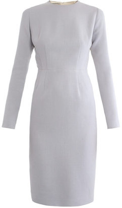 Emilia Wickstead Elliot contrast-back crepe dress