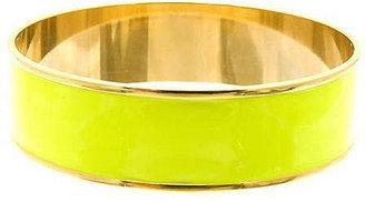 Janna Conner Medium Enamel Bangle, Neon Yellow Enamel 1 ea