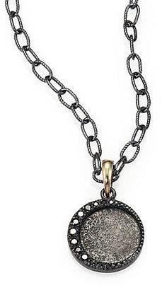 Mizuki Black Diamond, Oxidized Sterling Silver and 14K Yellow Gold Necklace