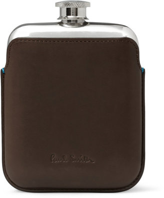 Paul Smith Leather-Cased Hip Flask