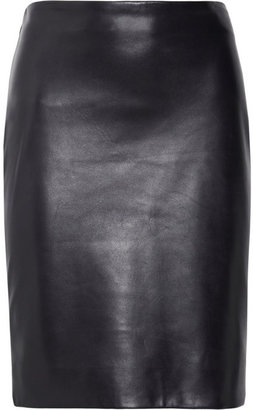 The Row Norick leather pencil skirt