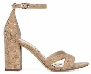 Sam Edelman Omar Natural Cork Heeled Sandals