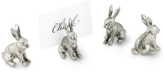 Williams-Sonoma Pewter Easter Rabbit Place Card Holders, Set of 4