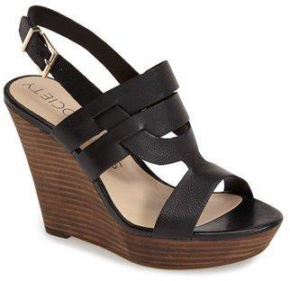 Women's Sole Society 'Jenny' Slingback Wedge Sandal $79.95 thestylecure.com